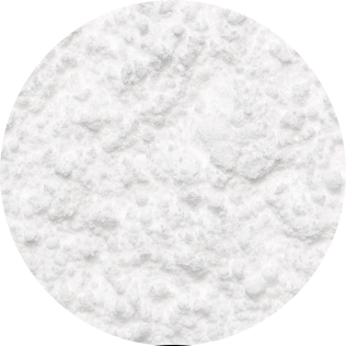 white decosnow sugar close-up