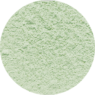 green decosnow sugar close-up
