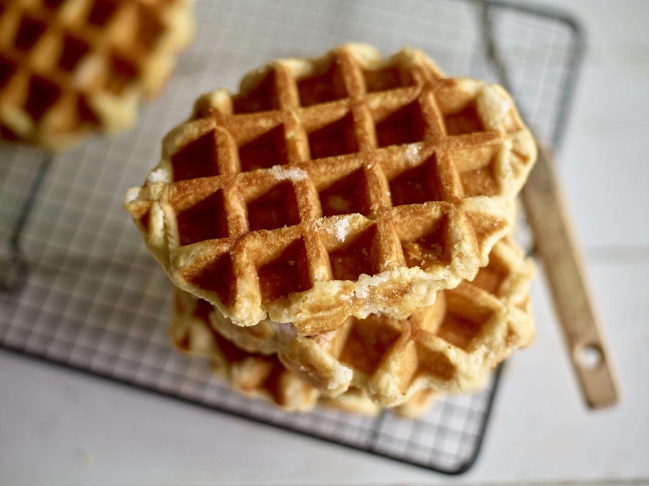 Vegan en bio Luikse wafels, organic and vegan Liege waffles, gaufres de Liège bio et vegan