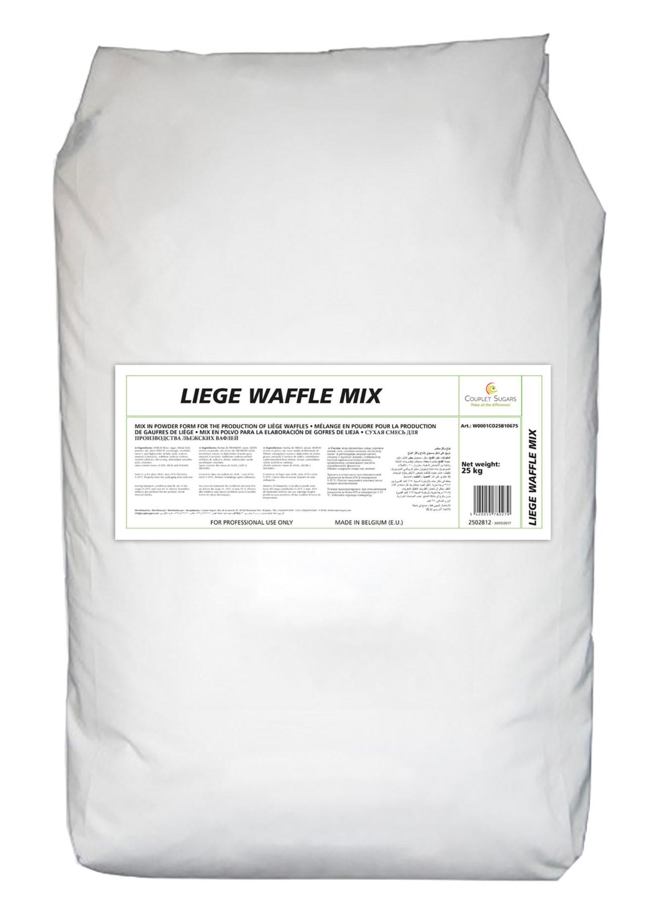Couplet bag of 25kg Liège Waffle Mix